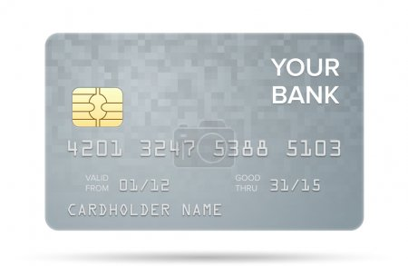 Illustration for Vector illustration of detailed credit card isolated on white background - Royalty Free Image