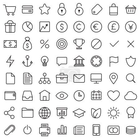 64 Thin Icons Set.