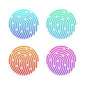 Fingerprint set Illustration