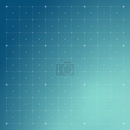 Illustration for HUD interface with Grid. Vector - Royalty Free Image