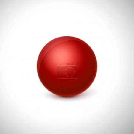 Glossy red sphere
