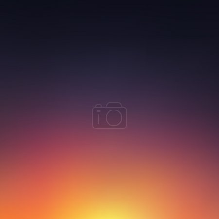 Illustration for Abstract blurred sunset background. Vector - Royalty Free Image