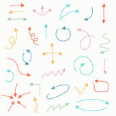 Sketch arrow set Vector illustration for your business and education design Elements for design Easy to edit