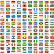 Flag of world. Vector icons set...