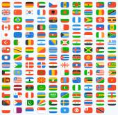 Flag of world Vector icons set