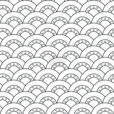 Seamless geometric pattern, Vector
