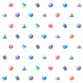 Polygon 3d objects Seamless geometric pattern
