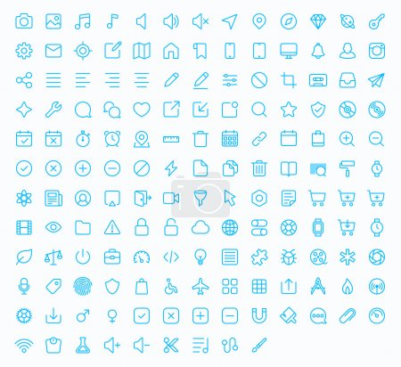 Outline vector icons for web and mobile.