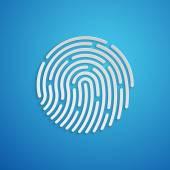 ID app icon Fingerprint vector illustration