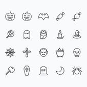 Halloween icons for web and mobile Outline vector icons 2 pixel stroke thin