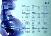 2015 calendar with abstract background Free font used week starts with sunday
