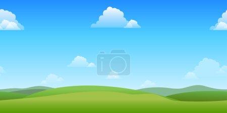 Horizontally seamless game background