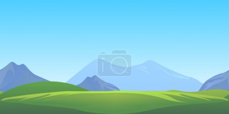 Illustration for Horizontally seamless game background - Royalty Free Image
