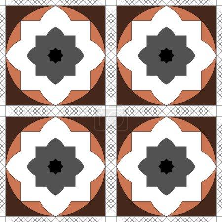 Ornamental round morocco seamless pattern. Orient traditional ornament. Oriental motif. Flat.
