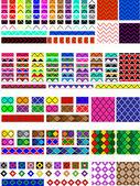 """Постер, картина, фотообои """"вектор eps8. 5 различных образцов образчика в многократных цветах, готовых тянуться & заглядывать Вашему образчику или поддонам щетки, которые являются легко редактируемыми к цветам, которые Вы хотите. заполнитесь и чиститесь, примеры показывают."""""""