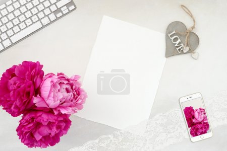 Pretty Styled Stationery Mockup photograph