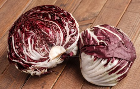 Photo for Fresh organic Radicchio Lettuce, ready for eating and cooking - Royalty Free Image