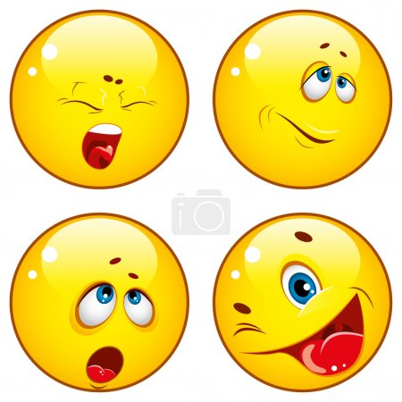 Illustration for Smiley icons. Vector illustration - Royalty Free Image