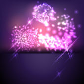 Bright colorful background with sparks and flashes for your text