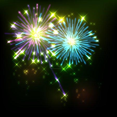 Illustration pour Fond coloré lumineux avec des étincelles et des éclairs pour votre texte - image libre de droit