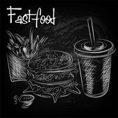 Hand drawn of fast food