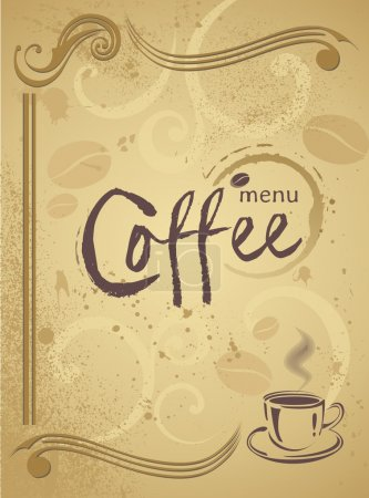 Trendy restaurant menu background to any creative modern design Coffee