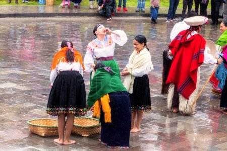 Indigenous People Celebrating Gifts From  Earth