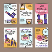 Vector set of discount coupons for make up products and perfumes