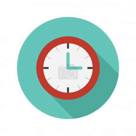 Vector flat modern round watch icon