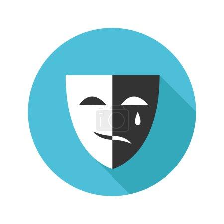 Vector flat modern round mask icon
