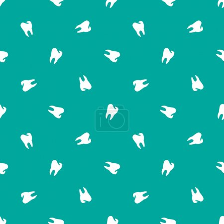 Vector minimalistic teeth seamless pattern