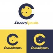 Vector minimalistic C letter space logo