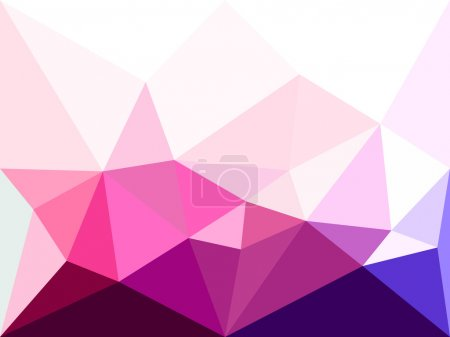 Vector low poly background. Abstract diamond background in pink colors