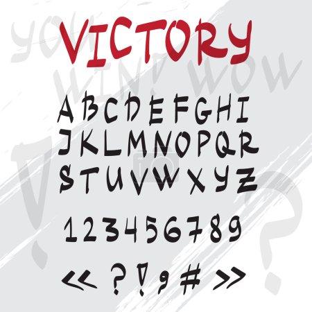 Vector hand drawn graffiti latin alphabet. Handwritten doodle font.