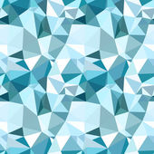 Vector low poly seamless pattern Blue winter polygonal abstract background