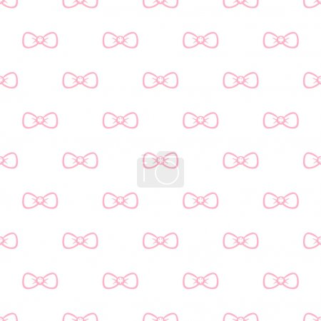Illustration for Vector minimalistic bow tie seamless pattern. Simple background - Royalty Free Image