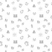 Vector baby or pregnancy seamless pattern. Newborn black and white background