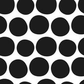 Vector hand drawn black and white seamless pattern Doodle sketchy circles background