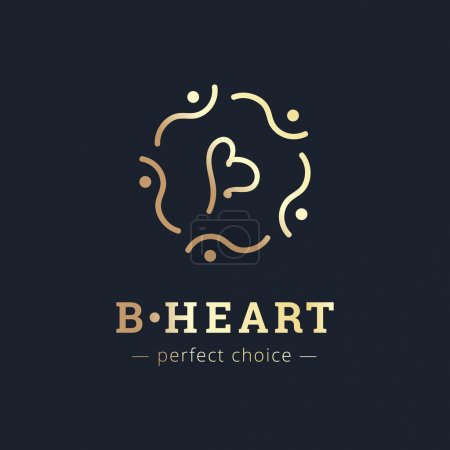 Vector minimalistic elegant B letter logo