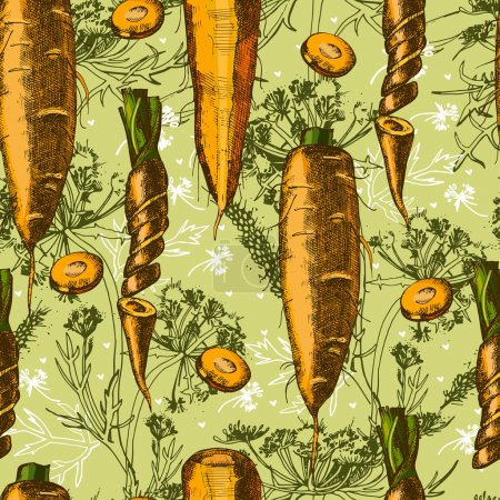 Beautiful pattern with carrot