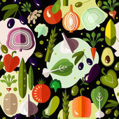 Bright colorful pattern with vegetables