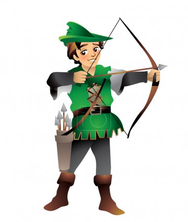 Robin Hood is the heroic outlaw with his merry ban...