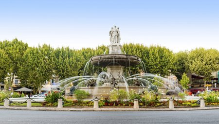 Fountain at La Rotonde in Aix-en-Provence, France