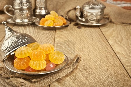 Traditional delight turkish sweet candy Ramadan ( ramazan ) food