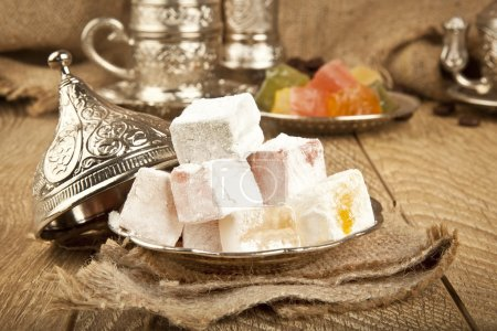 Traditional delight turkish sweet candy Ramadan ( ramazan ) food