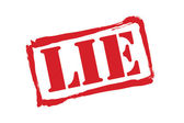 LIE red rubber stamp vector over a white background