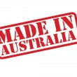 MADE IN AUSTRALIA Rubber Stamp vector over a white...