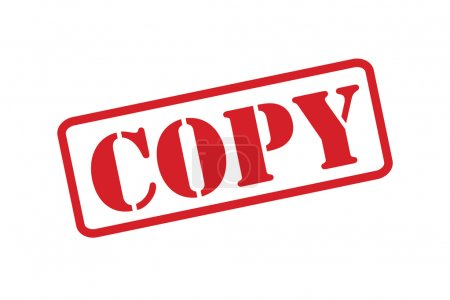 'COPY' red rubber stamp vector over a white background.