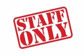 STAFF ONLY Rubber Stamp vector over a white background