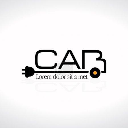 Electric Car Concept Logo